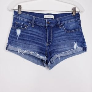 Abercrombie & Fitch Distressed Cutoff Jean Shorts